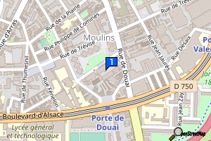 Lille/Bibliothèque municipale/médiathèque de Lille-Moulins